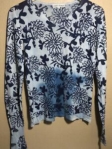 Marika Charles Womens Lightweight Silk cashmere Sweater Sz  M
