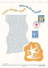Document Philatélique Timbre 1er Jour : 10/11/ 1999 - Croix Rouge Fêtes