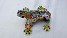 gecko en resine imitation mosaique