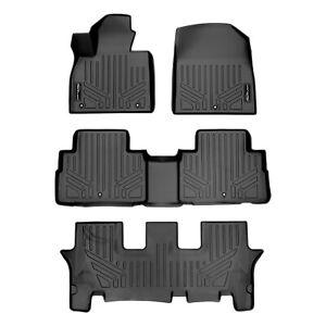 SmartLiner All Weather Custom Floor Mats 3 Row Set for 20-21 Hyundai Palisade
