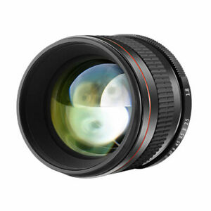 Neewer 85mm f/1.8 Manual Focus Aspherical Medium Telephoto Portrait Lens Canon
