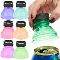 6X Reusable Beverage Can Caps Cover Lids Tops Snap On Camping Soda Drink Saver√√
