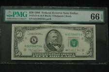1990 Fr 2124 K $50 PMG 66 EPQ Superb Gem Dallas