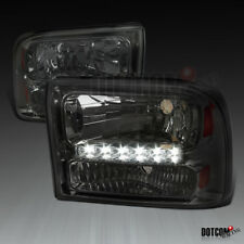 1999-2004 Ford F250 F350 Superduty Excursion Smoke 1PC SMD LED DRL Headlights