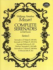 Mozart Complete Serenades Full Score Series I Learn to Play Ensemble Music Book