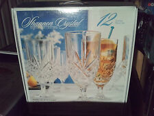 Goblets Iced Tea Beverage Glassware Set Crystal 6 Dublin Godinger Shannon NIB