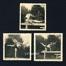 TURNERIN / GYMNAST GIRL * 3 Vintage 1930s Private Photos / 3 Fotos