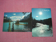 2 Ansichtskarten Canada (Kicking Horse River und Rocky Mountains)