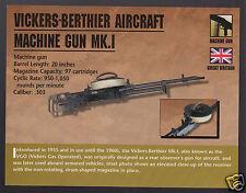 VICKERS-BERTHIER AIRCRAFT MACHINE GUN MK.I VGO Atlas Classic Firearms PHOTO CARD