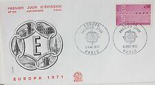 ENVELOPPE PREMIER JOUR - 9 x 16,5 cm - ANNEE 1971 - EUROPA PARIS
