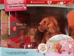 American Girl Fancy CockerSpaniel Pet House Play Set. Shipping Included