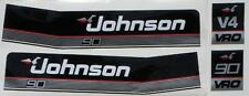 Johnson Outboard Hood Decals V4 1985 thru late 90's