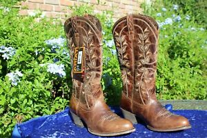 ARIAT COWBOY BOOT WOMENS 7.5 B DESERT HOLLY PEARL ROUND TOE 10014100 NEW W/TAGS
