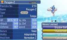Pokemon Strategy Guide: Shiny Porygon-Z 6IV +Items Customization For Sun/Moon