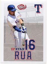 2016 Texas Rangers Dr. Pepper Rangers Ryan Rua Postcard SGA