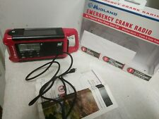 EMERGENCY CRANK RADIO CHARGER WEATHER ALERTS SOLAR POWER FLASHLIGHT