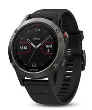 NEW Garmin Fenix 5 Multisport GPS Watch - Black Band - 010-01688-00 - IN STOCK