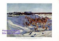 Russisches Dorf XL Kunstdruck 1925 von Konstantin Korowin Russland Winter +