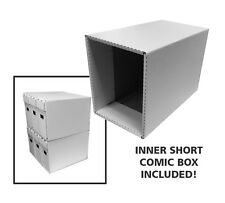 One Cardboard Short Comic Storage Box & Outer House - New Improved Design!