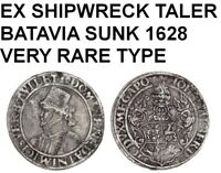 1629 SHIPWRECK THE BATAVIA-1549 MECKLENBURG TALER-VERY RARE BOTH AS COIN & WRECK