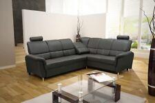 Ecksofa mit Schlaffunktion  Eckcouch Polstersofa Couch Dante Kunstleder 04