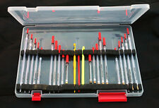 Twenty Assorted Crystal Float Set & Float Box. For Rivers & Lakes.For Carp&Roach