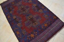 New listing 3'5 x 5'9 Afghan Balouch Sumak Tribal Handmade Oriental Carpet Wool Area Rug 4x6