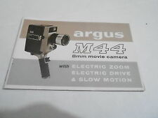 1950s/1960s MOVIE CAMERA manual #34 - ARGUS M44 8MM