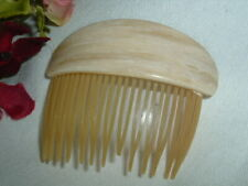 VINTAGE CARAMEL CELLULOID SLIDE HAIR COMB IN GIFT BOX