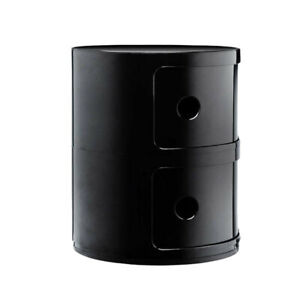Kartell Container To 2 Drawers 'Componibili' Design A.Castelli, Black, Original
