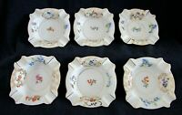 Vintage Ashtray Set, GEMMA CZECHO SLOVAKIA, Porcelain, Floral Design, Set of 6