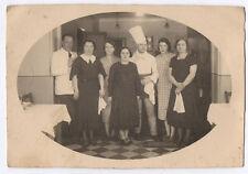 PHOTO ANCIENNE Cuisine Cuisinier Tablier Restaurateur Vers 1930 Employés Toque