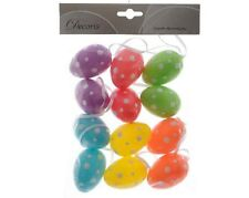 EGGS DECORATED IN WALLET 12 pcs. Easter Decorations Feast 819005U
