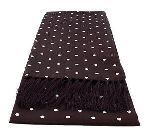 Michelsons UK - Narrow Polka Dot Silk Scarves
