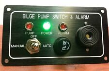 Bilge Pumps Switch Alarm Panel 3 Way Marine Boat Yacht Pontoon Manual Automatic