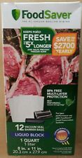 FoodSaver Liquid Block Vacuum-Seal Quart Bags, 12 Count FSFSBFLB216-NP