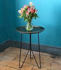 High Tray Table, Antique Gold colour