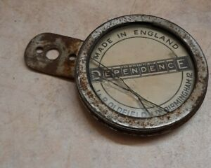 Vintage Motorcycle Tax Disc Holder, Glass has cracked.