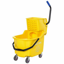 Home Janitorial Cleaning Floor Bucket With 34 Quart Capacity And Metal Handle