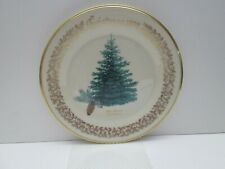 Lenox Christmas Plate 1978 Blue Spruce, Commemorative Issue, Usa, Vintage