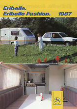 Prospekt Eriba Eribelle + Fashion 1987 Broschüre Wohnwagen Caravan camping trail