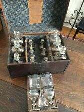 Antique Late 18th Century Maritime Traveling Bar Decanter Tantalus Set 1800