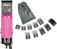 New Oster Classic 76 Hot Pink Love Limited Edition Hair Clipper + 10 PC Comb Set