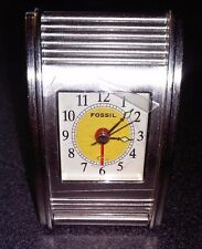 Fossil Travel Alarm Clock * New * Comes With Tin