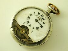 Superb Scarce 1919 Solid Sterling Silver 8 Day Hebdomas Pocket Watch