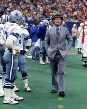 1980 Dallas Cowboys TOM LANDRY Glossy 8x10 Photo NFL Football Print Poster