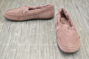 **Vionic Corinne Moc Suede Slippers, Women's Size 7.5, Pink