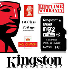 Kingston Micro SD 8GB SDHC Memory Card For Samsung S7 S8 S10 Mobile Phone Sim LG