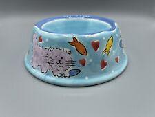 Hausenware 2001 Mary Jane Mitchell Cat Water Food Bowl Ceramic
