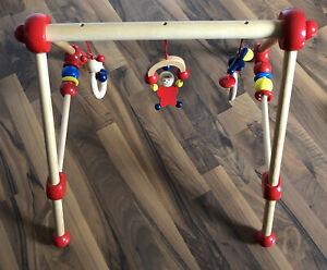Bieco Holz Spieltrapez / Spielbogen für Babys - höhenverstellbar